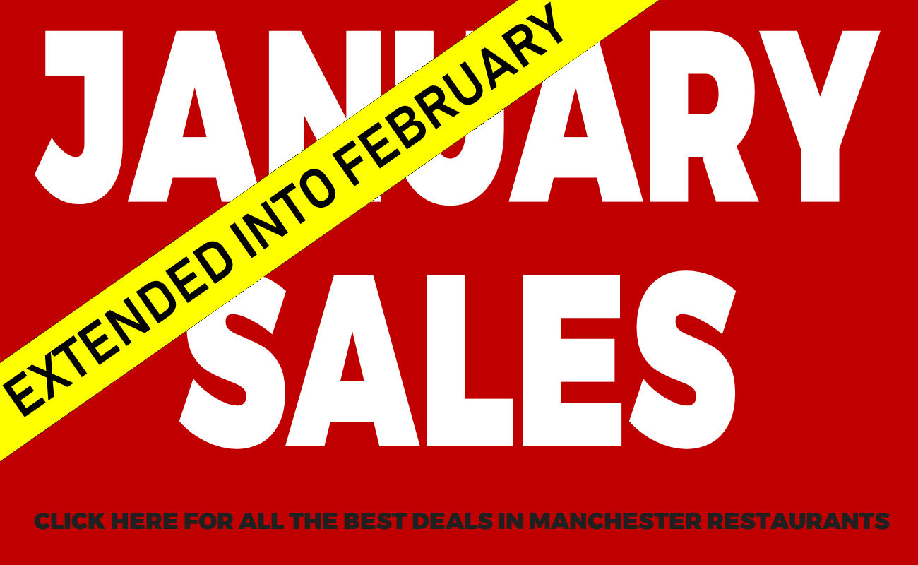 January Sales in Manchester restaurants