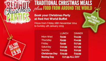 Christmas At - Red Hot World Buffet