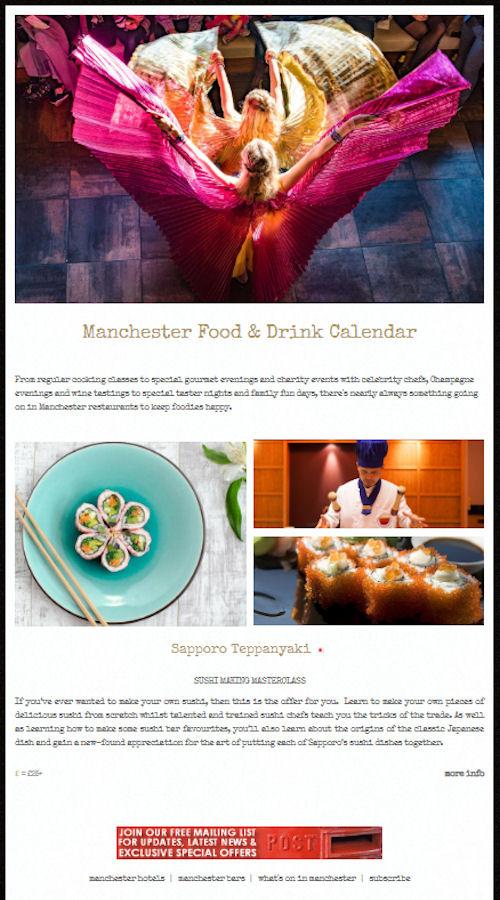 Manchester Food & Drink calendar