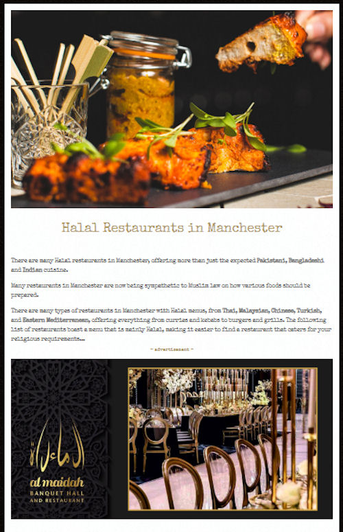 Halal restaurants in Manchester