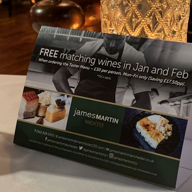 James Martin Manchester - January 2020 Preview