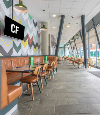 Family Friendly restaurants in Manchester ~  Cafe Football National Football Museum