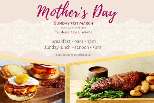 Restaurants of Manchester Mother's Day ~ Zouk