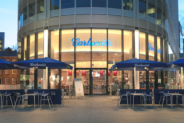 Best Italian restaurants Bridgewater Hall Manchester~ Carluccio's Spinningfields