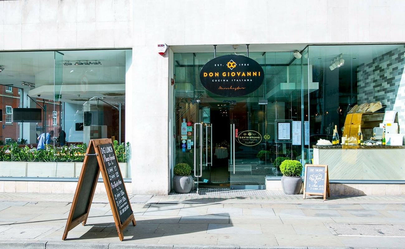 Manchester restaurants - Don Giovanni Manchester