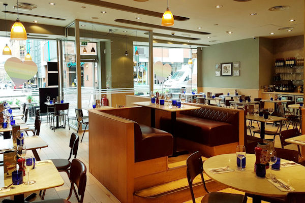Restaurants Of Manchester ~ Pizza Express Oxford Street