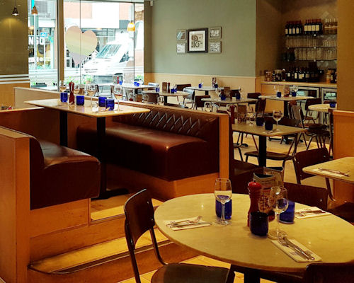 Wheelchair accessible restaurants Manchester ~ Pizza Express Oxford Street