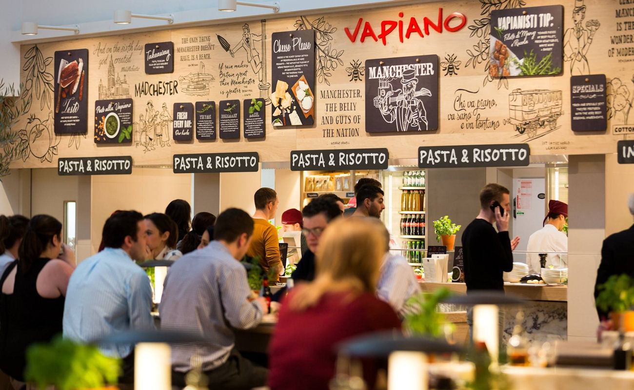 Buffet restaurants in Manchester ~ Vapiano Manchester