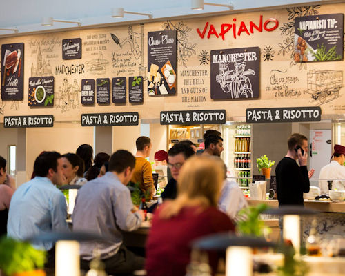 Restaurants in the Corn Exchange Manchester ~ Vapiano Manchester